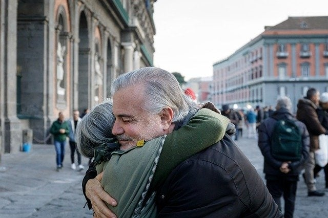 never too old for love - happy anniversary in italian